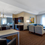 Living Room of Presidential Suite at Hawthorn Suites By Wyndham West Palm Beach