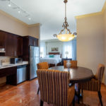 Kitchen of accessible presidential suite at Hawthorn Suites By Wyndham West Palm Beach